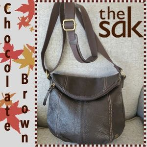The Sak Brown Pebble Leather Deena Shoulder Bag